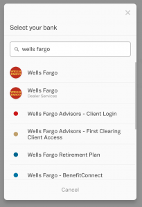 Bank Reconciliation for Wells Fargo Connection/Link