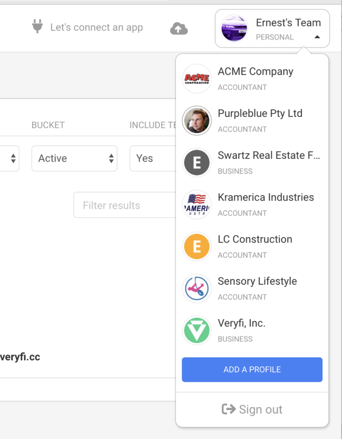 Multiple Profiles allows you to add another business or personal profile.