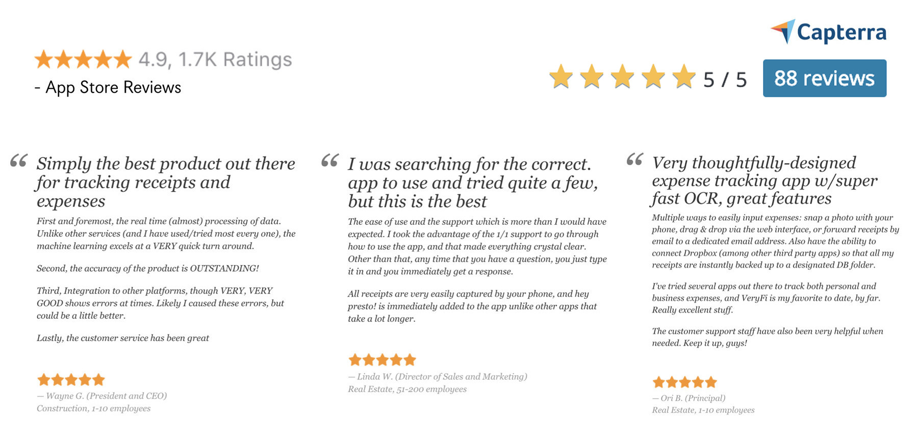 Customers Love Veryfi: Customer Reviews