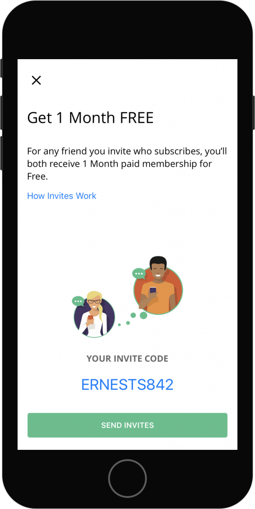 Get 1 Month Free and where to get your invite code