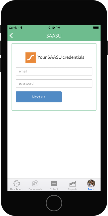 Saasu integration with Veryfi login