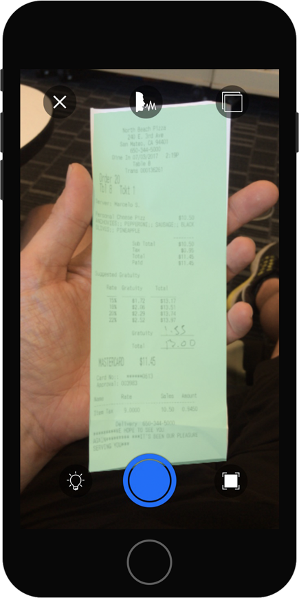 Best practice in capturing a Receipt with Document Detection turned on