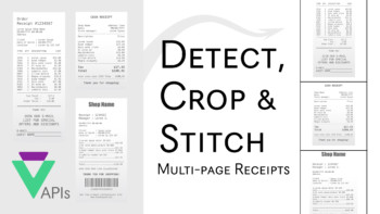 Detect, Crop & Stitch Multi-Page Receipts using Veryfi OCR API